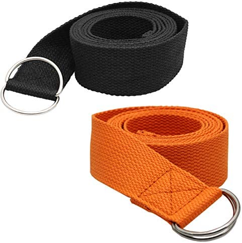 183cm x 3.8cm Holding Poses Physical Therapy Tavie 2x Yoga Belt Strap For Fitness Flexibility Exercise Stretching Belts Straps