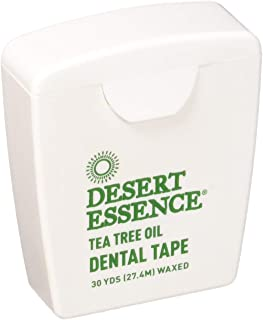 product image for Desert Essence Tea Tree Oil Dental Tape Infused with Tea Tree Oil & Mint - Beeswax Adds Easy-Glide for Hard-to-Reach Places -Plant-Based Care For Dental Health - 30 Yards (Pack of 6)
