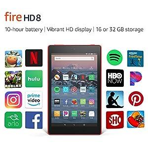 Fire HD 8 Tablet (8″ HD Display, 16 GB) – Red