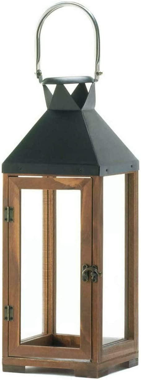 Wood and Metal Candle Lantern
