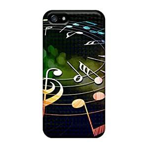 Awesome Colorful Musical Notes Flip Case With Fashion Design For Iphone 5/5s by runtopwell