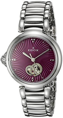 Edox-Womens-85025-3M-ROIN-LaPassion-Analog-Display-Swiss-Automatic-Silver-Tone-Watch