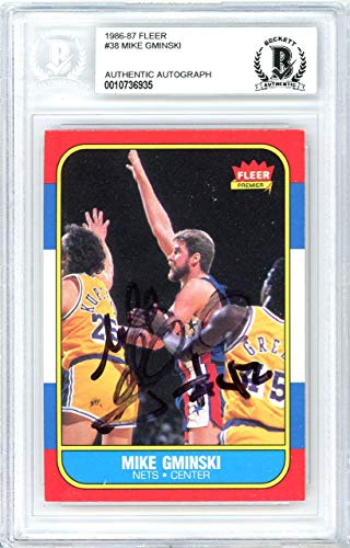 - Mike Gminski Autographed 1986 Fleer Card #38 New Jersey Nets Beckett BAS #10736935 - Beckett Authentication