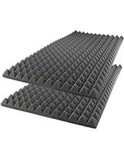 مجموعة الواح معالجة لامتصاص الصوت مصنوعة بتقنية الرغوة وبتصميم اهرامات لتكسو جدران الاستديوهات، من اي فوم بابعاد 50 × 50 × 7 سم - عبوة من 8 قطع