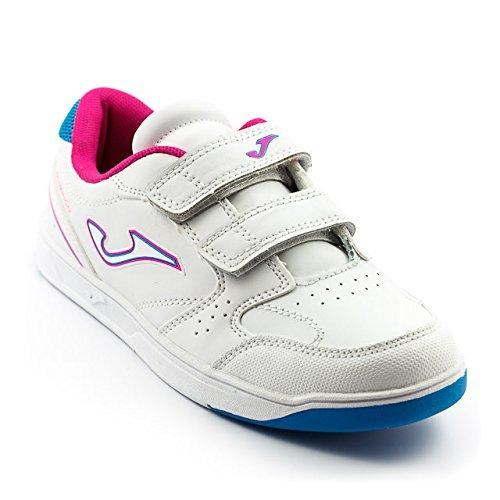 Hausschuhe Mädchen-Joma Olimpico 402Klettverschluss white-pink (-)