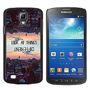 TECHCASE---Cubierta de la caja de protección para la piel dura ** Samsung Galaxy S4 Active i9295 ** --mirar las cosas de manera diferente de motivación