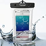 Tayogo Universal Waterproof Case Dry Bag with Armband for iPhone 6, 6 plus, 6s, 6s plus, 5, 5s, Samsung s6; Eco-Friendly TPU construction Pouch & IPX8 Certified to 100 Feet (White)