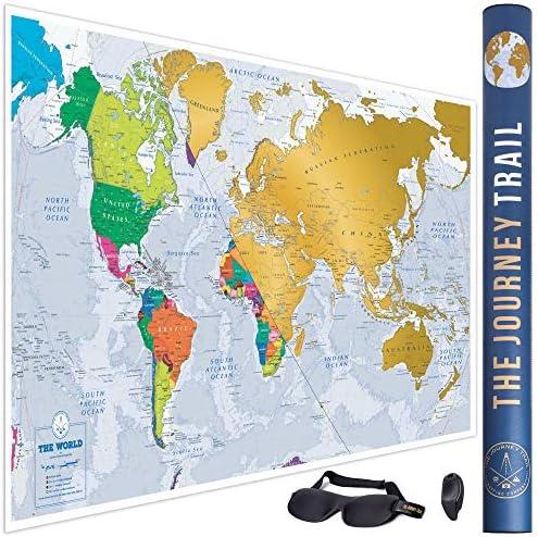 Mapa mundi para rascar más grande (84x57cm) y con más destinos ...