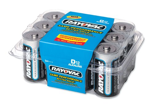 Rayovac Alkaline Reclosable Pro Pack D Batteries, 12-Pack