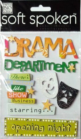 Drama Thearter Autocollants Sticker Adhesive Accents