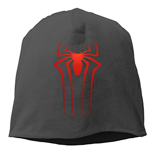 YUVIA The Amazing Spider Men's&Women's Patch Beanie MountaineeringBlack Caps For Autumn And Winter - Rogue Cartoon Costume