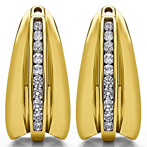 1/3 ct. Cubic Zirconia Chandelier Earring Jacket in Yellow Plated Sterling Silver (0.315 ct. twt.) by TwoBirch