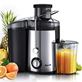 Joerid Juicer, [2019 Upgrade] Centrifugal Juicer Machine, Juice Extractor with Spout Adjustable, Lighter & Powerful, Easy to Clean & BPA-Free, Dishwasher Safe, Included Brush [Black]