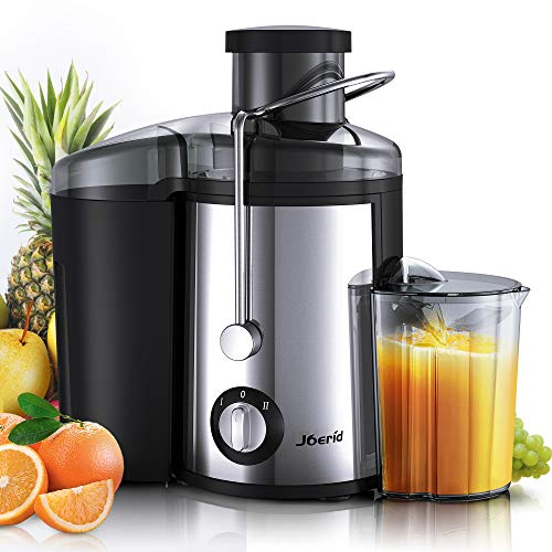 Joerid Juicer, [2019 Upgrade] Centrifugal Juicer Machine, Juice Extractor with Spout Adjustable, Lighter & Powerful, Easy to Clean & BPA-Free, Dishwasher Safe, Included Brush [Black] (Best Small Juicer Machine)