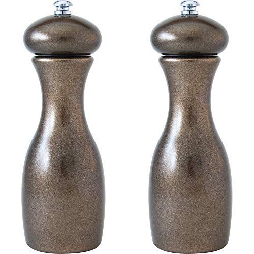 Fletchers' Mill Marsala Collection Salt & Pepper Mill, Metallic Copper - 7 Inch, Adjustable Coarseness Fine to Coarse, MADE IN U.S.A. ()