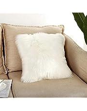 White Faux fur Cushion