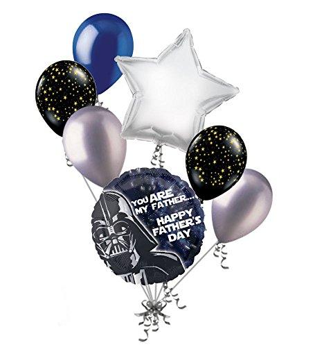 - Jeckaroonie Balloons 7 pc Star Wars Darth Vader Happy Father's Day Balloon Bouquet Party Decoration
