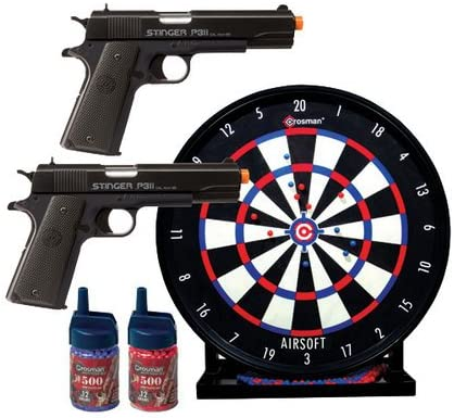 "Crosman ASP311CDK Stinger Challenge Kit 2 Airsoft Pistol w//12/"" Target /& Ammo"