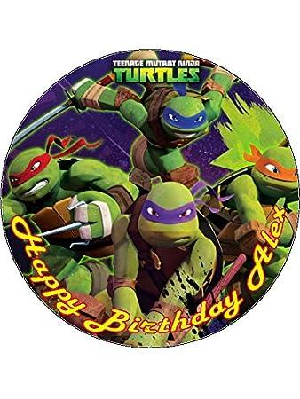 75 Teenage Mutant Ninja Turtles Edible Icing Birthday Cake Topper