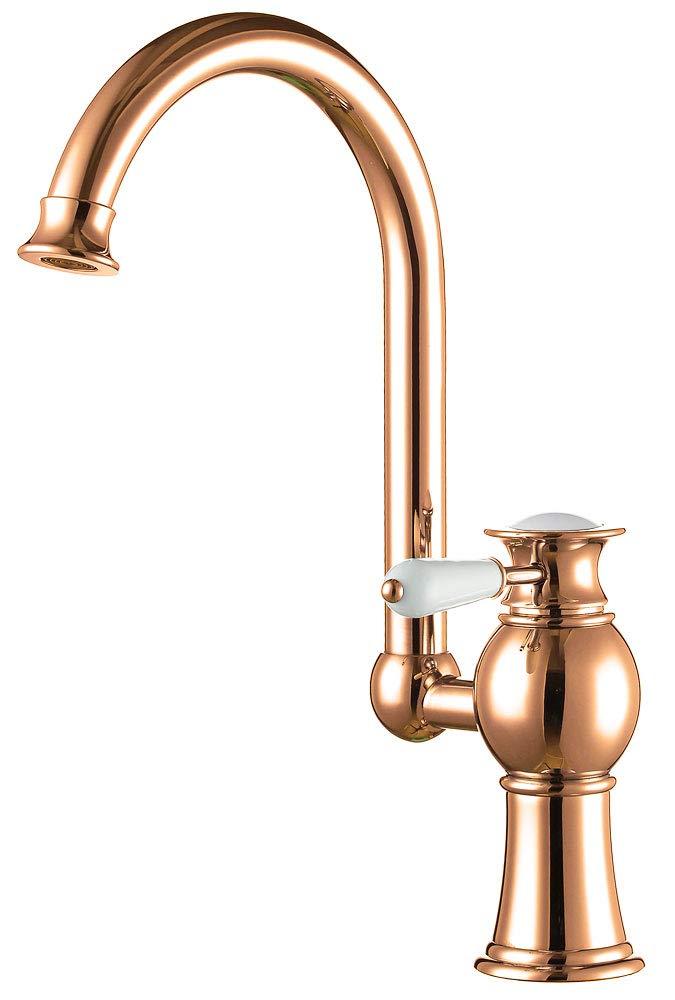 Serie EVAN Küche Einhebel Armatur Wasserhahn Gold Schwenkbar Sanlingo