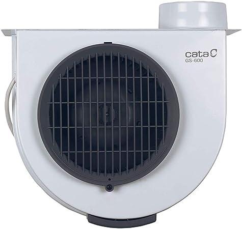 Cata GS 600 - Extractor de humos para cocinas, Extractor de cocina silencioso, Ventilador extractores de aire, Consumo máximo de energía: 105W, Color Blanco/ Gris: Amazon.es: Grandes electrodomésticos