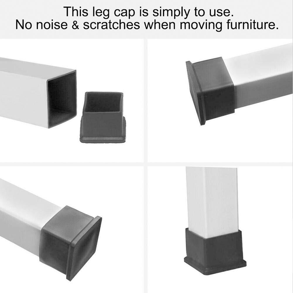 accesorio de varios tama/ños accesorio de patas de mesa de escritorio PVC con forma cuadrada 8 almohadillas para patas de muebles