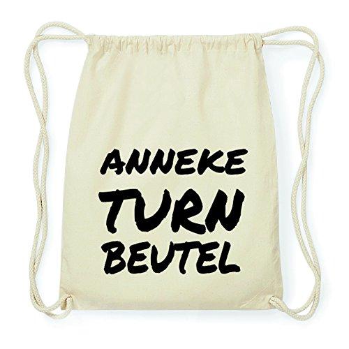 JOllify ANNEKE Hipster Turnbeutel Tasche Rucksack aus Baumwolle - Farbe: natur Design: Turnbeutel