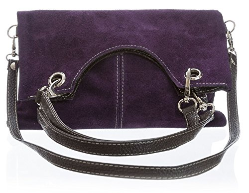 Clutch Handle Leather Evening Plain Shoulder Bag Shop Coffee Top Handbag Big Bh346 Suede wY84q8t