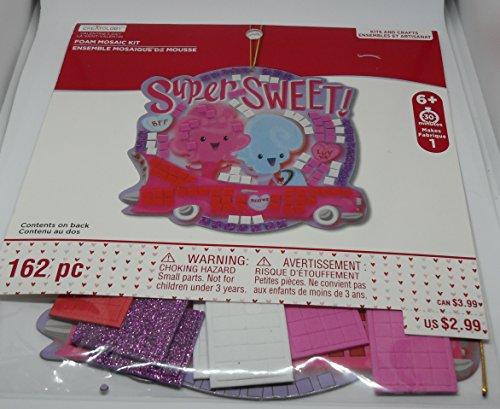 Super Foam Mosaic - Creatology Valentines Day Foam Mosaic Kit - Super Sweet - With Foam Stickers