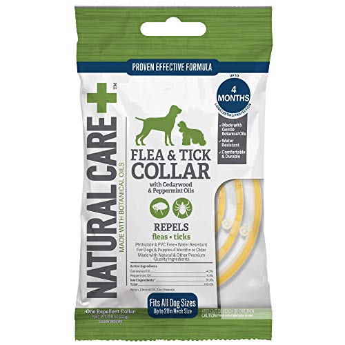 - Natural Care Repellent Flea and Tick Collar for Dogs and Puppies, 4 Month Protection