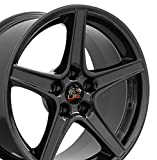 18x9 Wheel Fits Ford Mustang - Saleen Style Black Rim