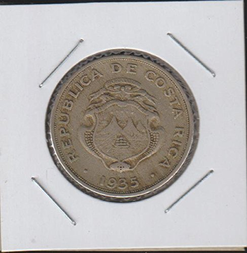 1935 CR National Arms $1 Choice Fine - Dollar Costa Rica