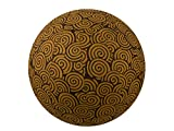 55cm Exercise Ball Cover, yoga ball cover, balance ball cover, birthing ball cover, 100% cotton - Chocolate Swirl