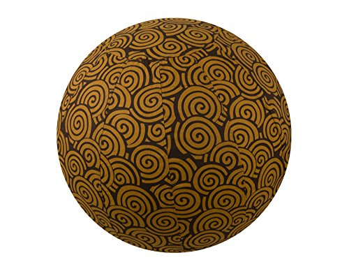 Global Groove Life 65cm Exercise Ball Cover, Yoga Ball Cover, Balance Ball Cover, Birthing Ball Cover, 100% Cotton - Chocolate Swirl by Global Groove Life