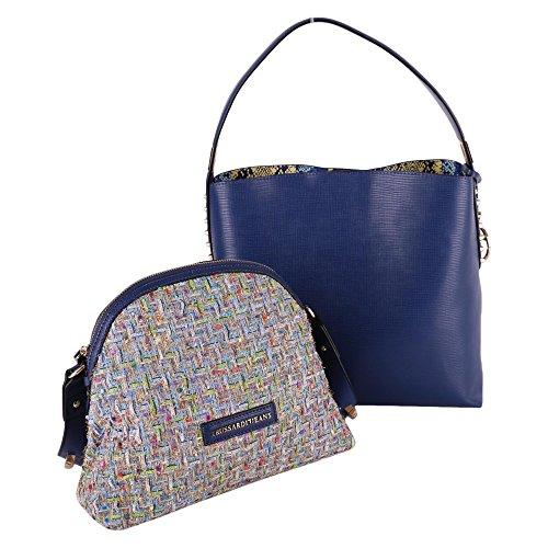 Trussardi Borsa Shopping Donna 75B000319Y099999U604 Poliuretano Blu