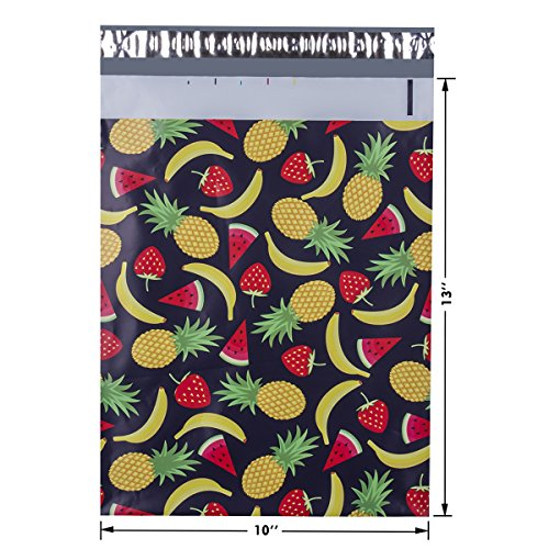 #4 10x13 Summer Fruits Designer Poly Mailers Shipping Envelopes Boutique Custom Bags 2.35MIL by Mailer Plus 100pcs Photo #3