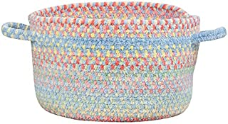 product image for Capel Rugs Baby's Breath 12 in. x 7 1/2 in. Braided Basket (Medium Blue)