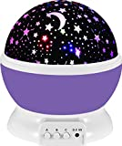 Baby : UINSTONE Night Lights, 360 Degree Rotating Star Sky Projector Night Lights,For Baby/Children/Kids Bedroom Christmas Baby Gifts Nursery Lights-9 Light Color Changing With 4.9 FT (1.5 M) USB Cable