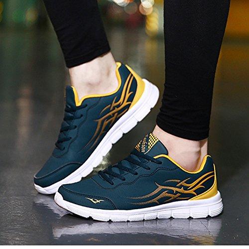 L'amorti des chaussures de course pour hommes Pour Hommes Chaussures Homme Anti-Slippery respirants d'extérieur imperméable chaussures chaussures de sports d'automne Bleu foncé duNRuKF
