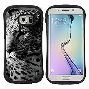 Pulsar iFace Series Tpu silicona Carcasa Funda Case para Samsung Galaxy S6 EDGE / SM-G925(NOT FOR S6!!!) , Leopard Spots Carino Furry Animal Bestia