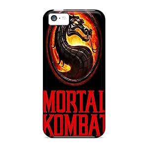 New Mortal Kombat Tpu Case Cover, Anti-scratch FlowerCase Phone Case For Iphone 5c