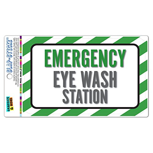 Emergency Eye Wash Station SLAP-STICKZ(TM) Premium Laminated Sticker Sign