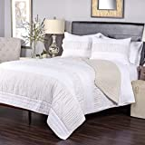 Arden Loft Manhatten Mambo Shredded Chic-Taupe 3 Piece King Quilt Set