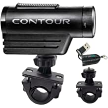 "ChargerCity Exclusive OEM 1/4"" 20 Tripod Sports Bike Bicycle Motorcycle ATV Mount for Contour Contour HD Roam Roam2 camera Action Camcorder (Fits all handle bar .75"" to 1.3""). Also compatible with all iON Air Pro 2 3 Plus Sony HDR AS10 AS15 Veho Muvi Pro Micro Kodak PLaysport ZX3 ZX5 Panasonic HX Extreme HD DV units."