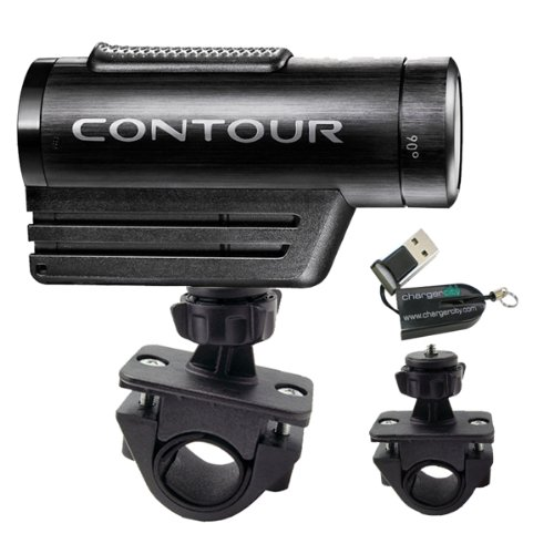 ChargerCity Exclusive OEM 1/4'' 20 Tripod Sports Bike Bicycle Motorcycle ATV Mount for Contour Contour HD Roam Roam2 camera Action Camcorder (Fits all handle bar .75'' to 1.3''). Also compatible with all iON Air Pro 2 3 Plus Sony HDR AS10 AS15 Veho Muvi Pro