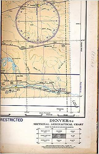 Map Denver Colorado T 4 Sectional Aeronautical Chart