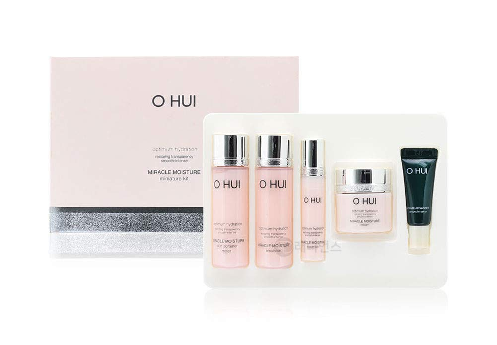 [New Version] Korean Cosmetics O HUI Miracle Moisture Gift Set (Travel Size Kit)