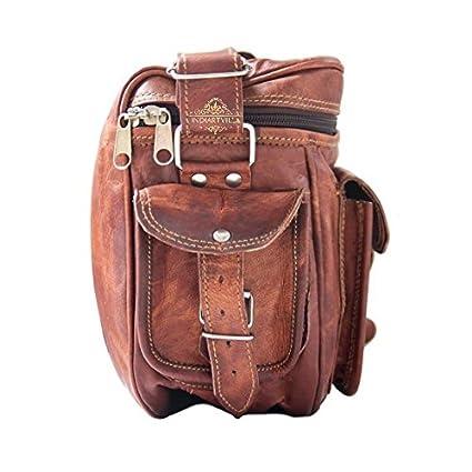 Estilo único hecho a mano bolso de piel Vintage cámara bolsa/casos/cámara maletín: Amazon.es: Electrónica