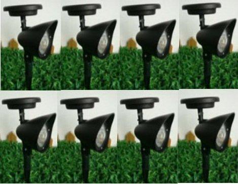8 New Outdoor Garden 3-led Solar Spot Flood Landscape Light Eco Garden Brand Name