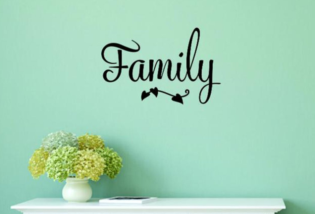 Design with Vinyl Moti 1988 3 Family Inspirational Life Quote Living Room Bedroom Peel /& Stick Wall Sticker Decal Black 20 x 40